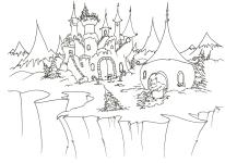 castel in zapada iarna