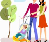 la plimbare  cu bebelusul