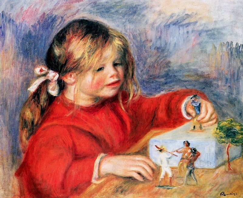 Are mama o fetita - tablou Renoir