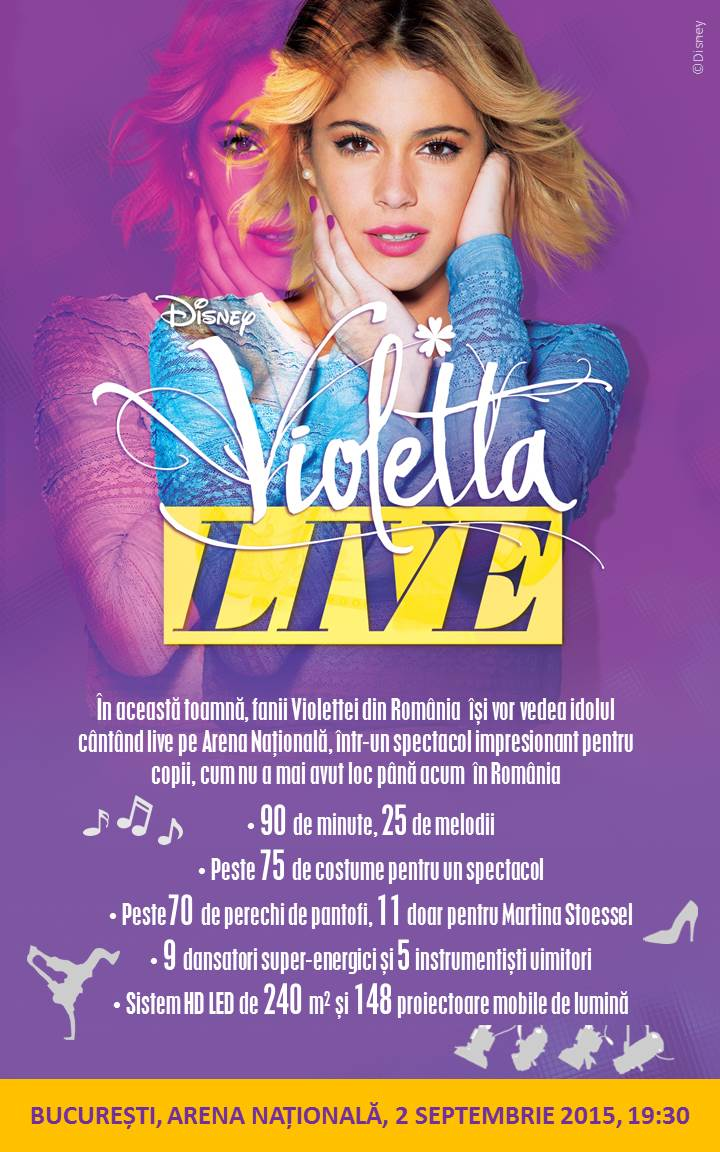 violetta live pe arena nationala 2 septembrie 2015