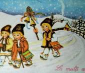 copii cu plugusorul de anul nou