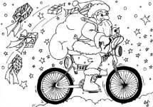 mos craciun pe bicicleta